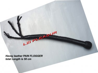 Leather braided Pain whip
