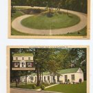 2 VINTAGE POSTCARDS GAP HIGHWAY SMOKEY MTNS, WILLIAMSBURG VA MOTEL