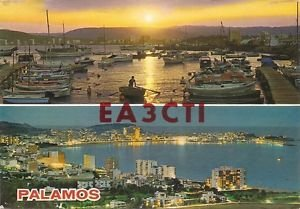 POSTCARD PALAMOS, SPAIN Dec 1981 Scene - Used - QSL CARD Ham Radio EA3CTI