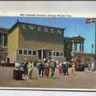 Postcard - Chicago World's Fair Exposition 1934 Swedish Pavilion Sweden