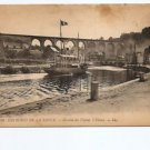 Postcard - Les Bords de la Rance, Steamboat and Rail Viaduct