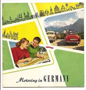 MOTORING IN GERMANY 1961 German Central Tourism Organization Brochure 30pgs