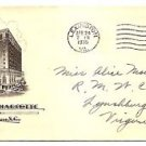 USA - COVER - Hotel cachet HOTEL CHARLOTTE 1935