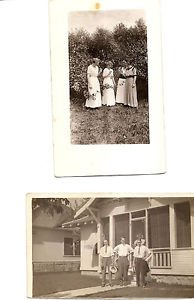 POSTCARD - Real Photos - Men and Women 1910s