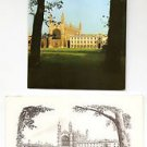POSTCARDS - King's College CAMBRIDGE University, England UK