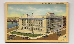 POSTCARD US Post Office Columbus Ohio constructed 1933  Curteich Artone Linen