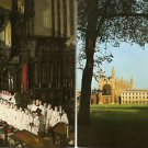 POSTCARDS King's College Cambridge University - Exterior + Choir 1990 Unused