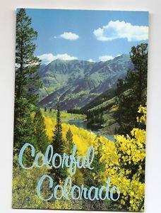 POSTCARD COLORFUL COLORADO USA  Aspen Trees and Maroon Lake ASPEN