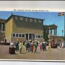 Postcard - Chicago World's Fair Exposition 1934 Swedish Pavilion Sweden Unposted