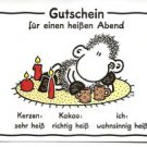 "POSTCARD - German ""Voucher for a Hot Night"" Gutschien fur einen heissen Abend"