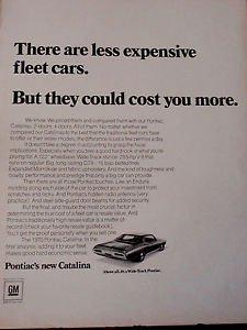 GM 1970 PONTIAC CATALINA Advertisement Fortune Magazine