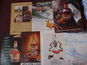 LIQUOR WHISKEY ADVERTISING from NEW YORKER Magazine 7 different 1970s/1980s