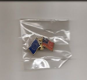 European Union EU - Malaysia Flag Pinback - new in package