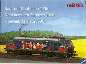 MARKLIN Catalog - New Items Summer 1996