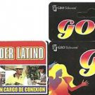 USA PHONE CARDS GEO Telecom / Poder Latino- 2008 - USED / NO AIRTIME