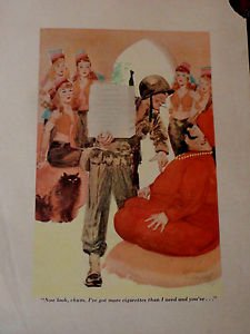 E SIMMS CAMPBELL Illustration ESQUIRE - Soldier and Harem Girls