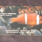 DIEGO GARCIA BIOT Phonecard Cable & Wireless $10 Fish DG67 USED/NO AIRTIME VALUE