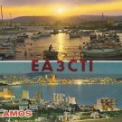 QSL CARD POSTCARD PALAMOS, SPAIN Dec 1981 Scene - Used - Ham Radio EA3CTI
