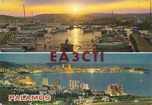 QSL CARD POSTCARD PALAMOS, SPAIN Dec 1981 Scene - Used - Ham Radio EA3CTI