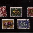 SWITZERLAND Scott B272-276 SG 591-95 Surtax Pro Patria Minerals