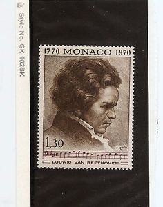 MONACO Music BEETHOVEN 1970 MNH Scott 777 Yvert 842