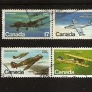 CANADA  Aircraft Airplanes- set of 4 Pairs 1980  Scott 873-876