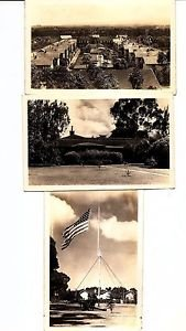 POSTCARDS - 3 views of US PANAMA CANAL ZONE vintage Real Photo RPPC from 1920s