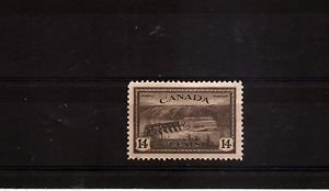 CANADA - 1946 Peace Issue 14c Hydroelectric dam Mint H Scott 270