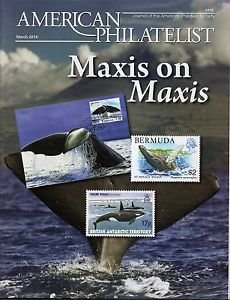 AMERICAN PHILATELIST Mar 2014 New Orleans Postcards, South Pole, Ocean Maxicards
