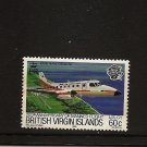 BRITISH VIRGIN ISLANDS BVI Aircraft Bandeirante - Manned Flight Scott 456 MNH