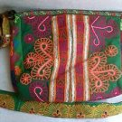Large Multi-Color ARTISAN EMBROIDERY HANDBAG  Ethnic Tribal Fabric     (#2a)