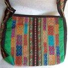 Large Multi-Color ARTISAN EMBROIDERY HANDBAG  Ethnic Tribal Fabric     (#2b)