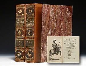 QUEEN ELIZABETH I Progresses, Progressions 1st EDITION 1788 John Nichols VG RARE