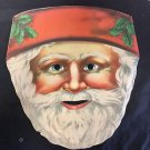 SANTA CLAUS PAPER MASK Vintage Victorian Type DIE-CUT Eyes Nose Mouth 1880-1900