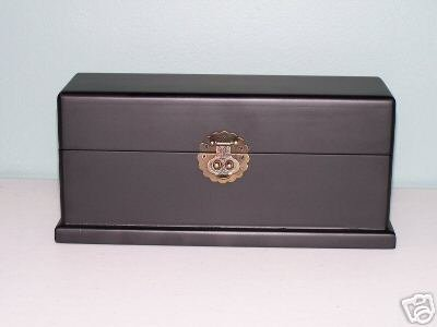 Black Wooden Jewelry Box