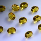 Citrin cz loose Stone 1 Pieces 8 x 10 mm Oval Yellow faceted Gemstone