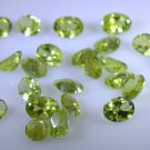 peridote loose Stone 1 Pieces 5 x 7 mm Oval Green faceted Gemstone