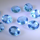 synthetic cubic zirconia Blue topaz cz loose Stone 1 Pieces 8 x 10 mm Oval Blue