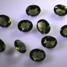 synthetic cubic zirconia Emerald cz loose Stone 1 Pieces 8 x 10 mm Oval Green f