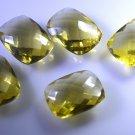 lemon Quartz loose Stone 1 Pieces 12 x 16 mm Emerald cut White faceted Gemstone