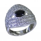Riyo Black 925 sterling silver Black Oynx Ring flashy treasure jewelry store SRB
