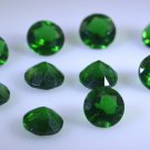 synthetic cubic zirconia Emerald cz loose Stone 1 Pieces 7 x 7 mm Round Green f