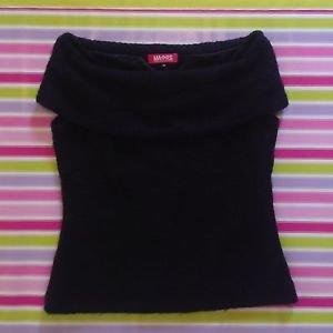 MA*RS Warm Black Sleeveless Sweater Top Gyaru Fashion Perfect for Autumn