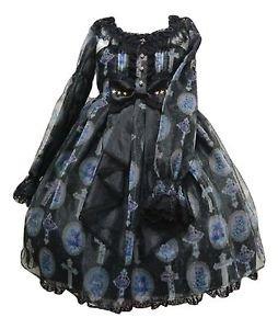 Angelic Pretty Milky Cross Onepiece Dress in Black Lolita Fashion