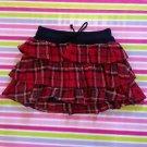 Liz Lisa Tralala Red Black Tartan Mini Skirt Size S Japanese Fashion