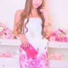 MA*RS Rose Print Pink White Onepiece Dress Gyaru Fashion