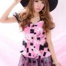 MA*RS Sweet Block Pattern Pink Top Gyaru Japanese Fashion