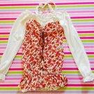Liz Lisa Floral Rose Autumn Onepiece Dress Size S Gyaru Fashion