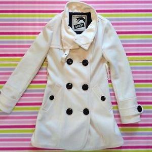 Spiral Girl White Trench Coat From Shibuya 109 Gyaru Fashion