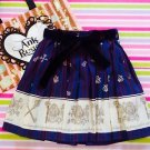 Ank Rouge 2015 Royal Blue Mini Skirt With Ribbon NWT Gyaru Otome Fashion